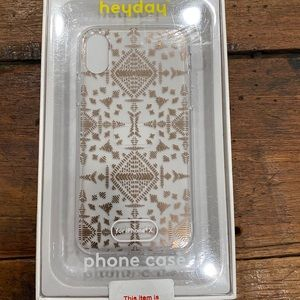 🆕 New   Heyday IPhone X Gold Clear Phone Case